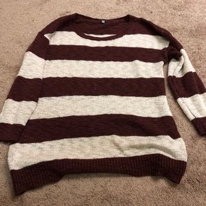 Charlotte Russe Striped Sweater